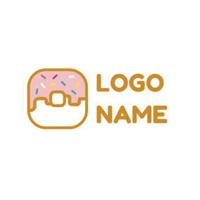Colorful Chocolate and Doughnut logo design