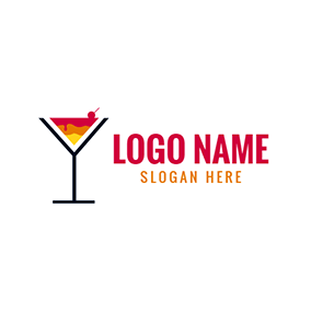 Colorful Cocktail Icon logo design