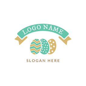 Colorful Easter Egg Icon logo design