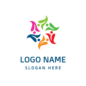 Colorful Lily Blossom logo design