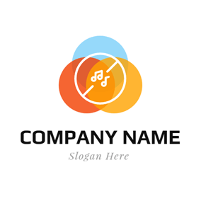 Colorful Musical Note logo design