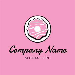 Cream and Sweet Doughnut logo design
