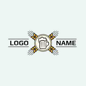 Cross Wheat and Beer logo design