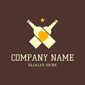 Cross Yellow Bottle logo design