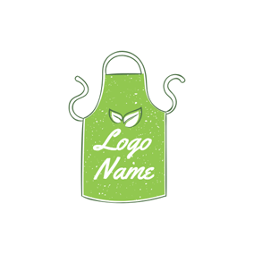 Cute Green Apron Icon logo design