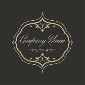 Dark Frame and Flower logo design
