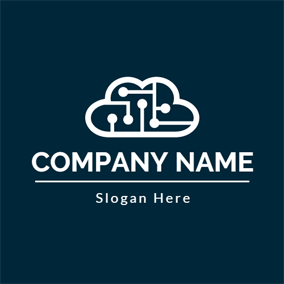 Dark Green and White Cloud logo design