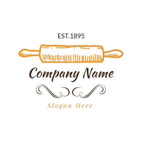 Decoration and Yellow Rolling Pin logo design