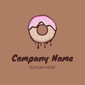 Delicious Chocolate and Doughnut logo design