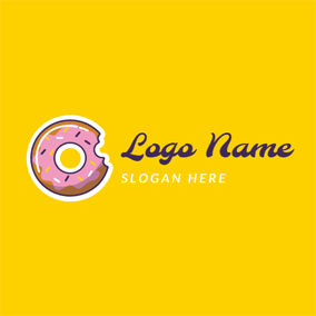 Delicious Cream Doughnut logo design