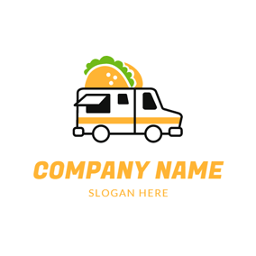Delicious Hamburger and Food Truck logo design