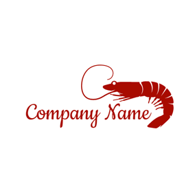 Delicious Red Shrimp logo design