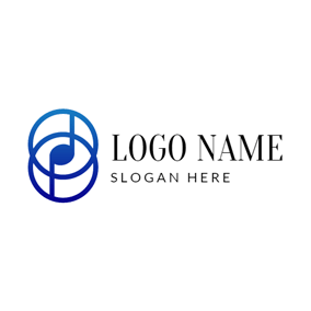 Double Blue Note logo design