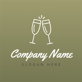 Double Cups and Wine Party logo design