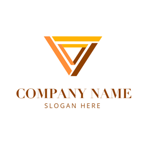 Double Yellow Triangles logo design