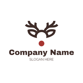Elk Horn and Simple Mask logo design
