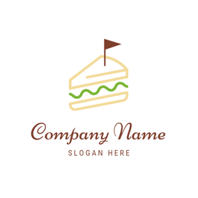 Flag and Double Sandwich logo design