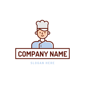 Flat Chef and Apron logo design