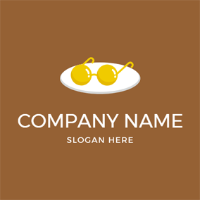 Glasses Shape and Egg logo design
