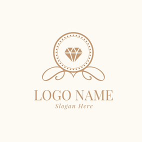 Golden Diamond Mirror logo design