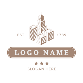 Gray and Brown Mansion logo design