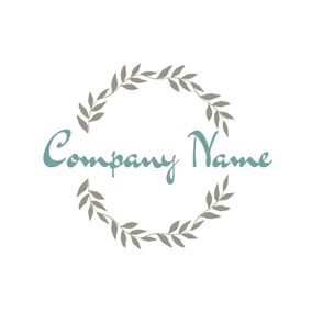 Gray Garland and Theme Party logo design