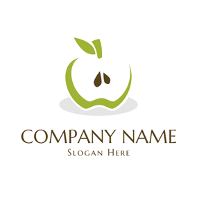 Green and Brown Apple logo design