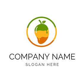 Green and Brown Mango logo design