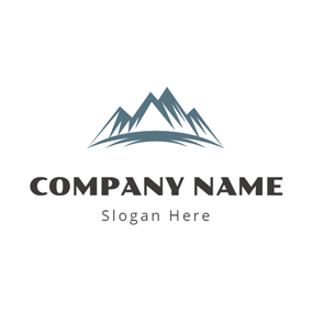 Green and White Mountain logo design