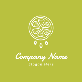 Green and White Orange logo design