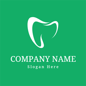 Green and White Teeth logo design