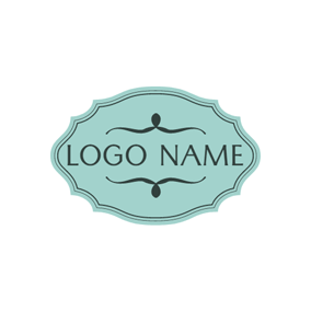 Green Badge and Name logo design