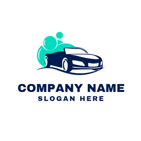 Green Bubble and Car Wash logo design