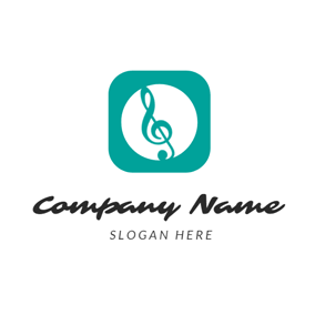 Green Circle and Note logo design