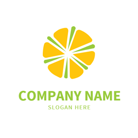 Green Decoration and Yellow Slice logo design