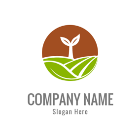 Green Field and White Sprout logo design