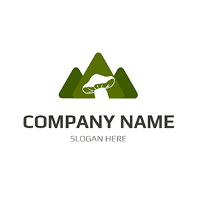 Green Forest and White Mushroom logo design