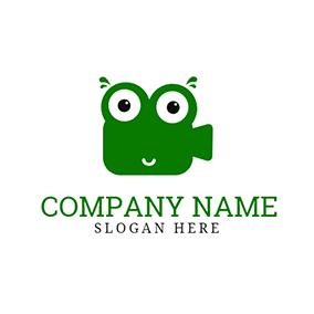 Green Frog and Video logo design