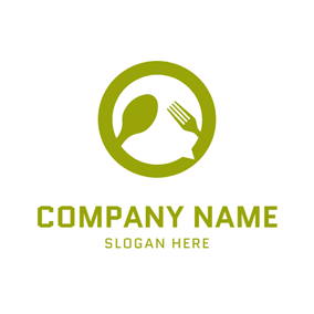Green Plate and Tableware logo design