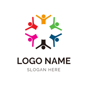 Happy People and Warm Community logo design