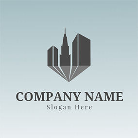 High and Black Architecture logo design