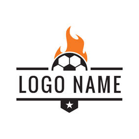 Hot Fire and Football logo design