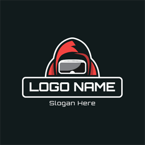 Knight and Vr Glasses logo design