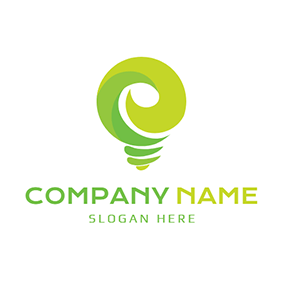 Lamp Bulb and Electric Energy logo design