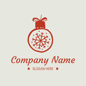 Likable Lamp and Snowflake logo design
