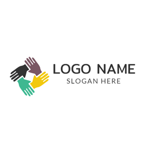 Linked Hand and Community logo design