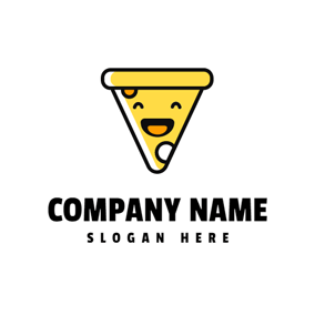Lovely and Smiling Pizza logo design