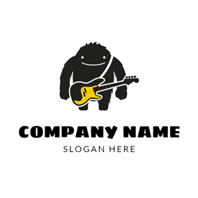 Lovely Monster and Rock Band logo design