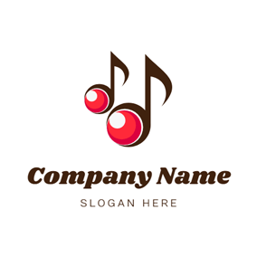 Note Shape and Cherry logo design