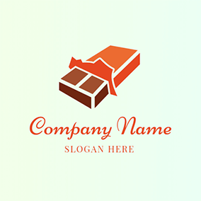 Orange and Yellow Chocolate Bar logo design